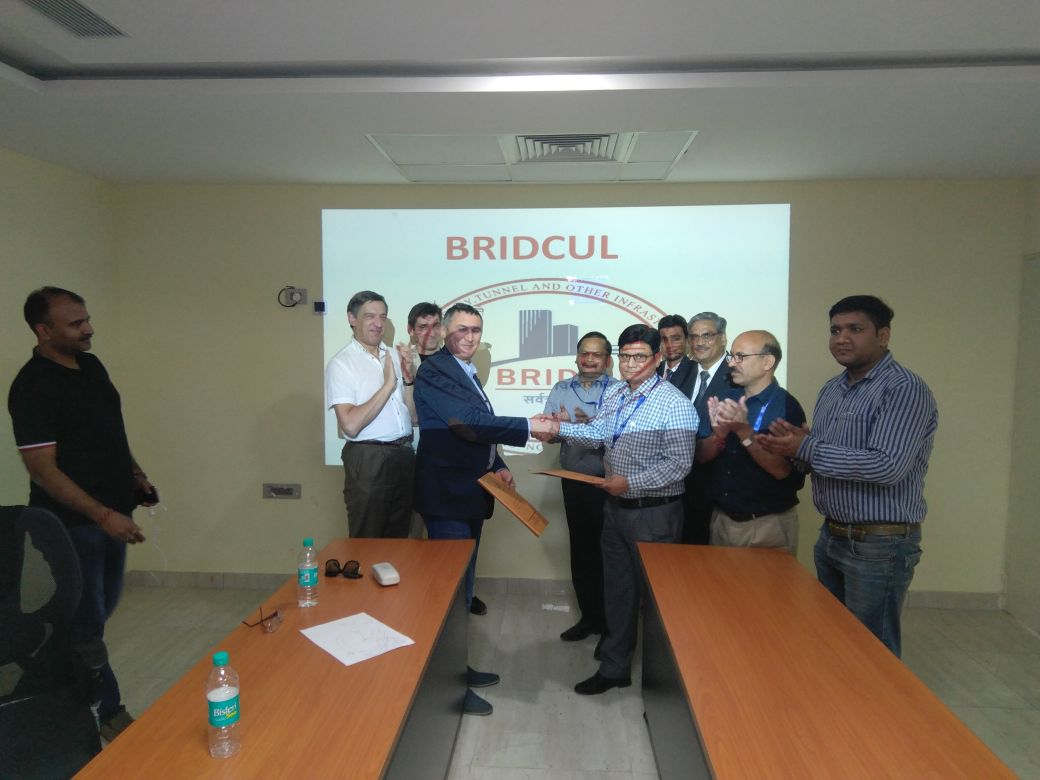 BRIDCUL and M/S PRiSS from Russia signed a MOU on 28/10/17 in Dehradun, Uttarakhand, India. Both the organizations have joined hands to do Tunnel works in India. PRiSS is a leader in Tunnel Construction, water networks and sewage related works in Russia